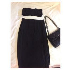 🆕 Black Bandeau & Midi Skirt ✨